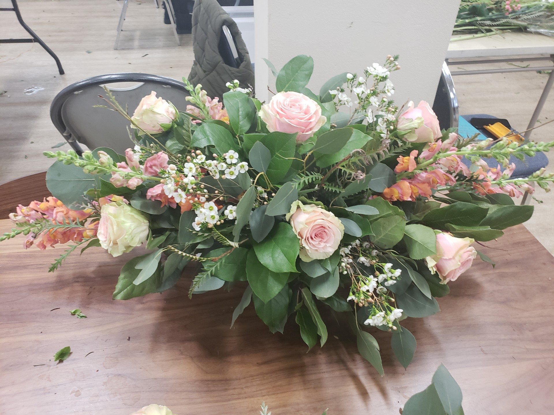 10 Head Table Classic Dining Table Centerpiece Flower School 101